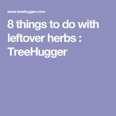 8 things to do with leftover herbs : TreeHugger