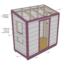 wood shed plans wooden storage ana white chicken coop diy projects large building free outdoor bike wayfair sheds sears costco albuquerque Easy Chicken Coop, Diy Chicken Coop Plans, Building A Chicken Coop, Building A Shed, Ana White, Free Shed, Diy Vintage, Wood Shed Plans, Woodworking Projects Plans
