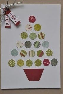 Xmas ideas Christmas circles by melbourne robyn - Cards and Paper Crafts at Splitcoaststampers. Christmas Paper Crafts, Homemade Christmas Cards, Christmas Cards To Make, Homemade Cards, Handmade Christmas, Holiday Crafts, Christmas Crafts, Christmas Decorations, Christmas Tree