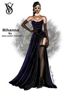 Rihanna In Vivienne-Westwood at Victoria's-Secret