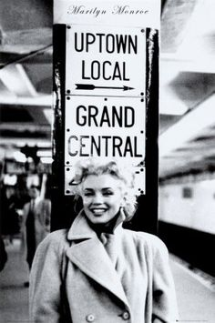 new york.uptown local and Grand central. Marilyn Monroe.