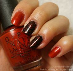 Valentine's Day mani with stamping