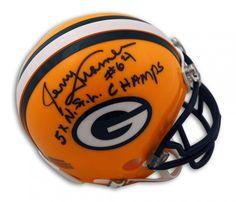 "AAA Sports Memorabilia LLC - Jerry Kramer Green Bay Packers Autographed Mini Helmet Inscribed ""5X N.F.L. Champs"", $67.95 (http://www.aaasportsmemorabilia.com/nfl/green-bay-packers/jerry-kramer-green-bay-packers-autographed-mini-helmet-inscribed-5x-n-f-l-champs/)"