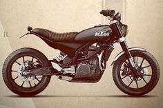 KTM Duke 390 Scrambler, is this how it would have been in the 70s