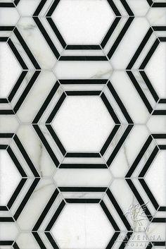 black & white tiles.