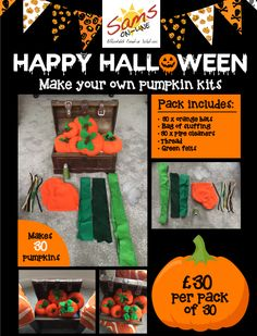 Create a pumpkin pack - 30 available at http://ebay.eu/2j5Z7st