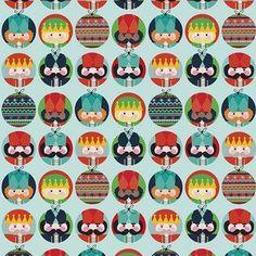 Riley Blake Designs - Nutcracker Christmas - Nutcracker Dots in Aqua