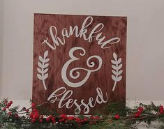 Thankful & Blessed Inspirational And Motivational Wood Wall