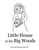 Little House on the Prairie  coloring page to stitchery