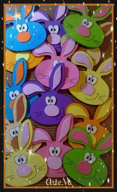 Cute bunny craft idea crafts and worksheets for preschool toddler and kindergarten Foam Sheet Crafts, Foam Crafts, Diy And Crafts, Paper Crafts, Bunny Crafts, Easter Crafts For Kids, Spring Projects, Spring Crafts, Diy Niños Manualidades