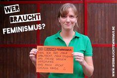 """""""Ich brauche #Feminismus, weil ich ihm mein Wahlrecht, mein Studium und meine Hosen verdanke… Und noch nicht genug habe :)"""" (Marion)"""