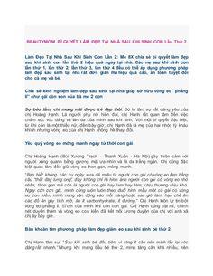 BEAUTYMOM BÍ QUYẾT LÀM ĐẸP TẠI NHÀ SAU KHI SINH CON Lần Thứ 2  Làm Đẹp Tại Nhà Sau Khi Sinh Con Lần 2: Mẹ 8X chia sẻ bí quy...