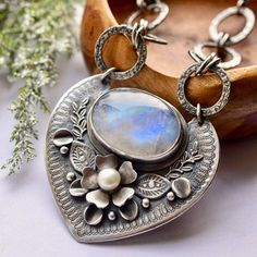 A good amount of items are discounted by in my shop like this lovely piece. If youre looking for a gift this might be the time. The sale ends at midnight EST. Link to shop is in bio. Moonstone Jewelry, Gemstone Jewelry, Sterling Silver Jewelry, Beaded Jewelry, Metal Clay Jewelry, Jewelry Art, Jewelry Design, Jewelry Ideas, Soldering Jewelry