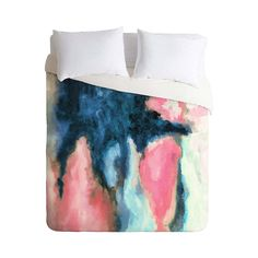 Abstract and boldly original, the Bleeding Heart Duvet Cover is a stunning addition to your bedroom decor. Sure to become the focal point, the duvet cover boasts rich hues of pink and blue that bleed i...  Find the Bleeding Heart Duvet Cover, as seen in the Bedroom Refresh Sale: Bedding Collection at http://dotandbo.com/collections/january-bedding-sale-bedding?utm_source=pinterest