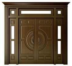 all type door design Wooden Double Doors, Wooden Front Door Design, Main Entrance Door Design, Double Door Design, Wood Front Doors, Entrance Doors, House Arch Design, Home Door Design, Pooja Room Door Design