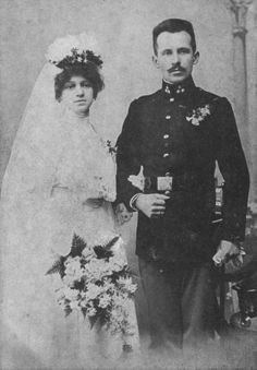 Emilia and Karol Wojtyła, parents of pope John Paul II.  c. 1903-1906