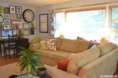 House Tour: Living Room: Collage Wall