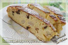 Gourmande sans gluten: Gâteau à la poêle aux poires et pépites de chocola...