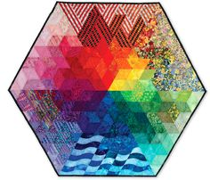 The Color Wheel quilt by Pamela Zave, 2004