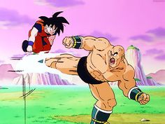 "guttamanation: ""- He approaches Nappa and raises his ki not even half as high as it can go. """
