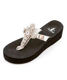 cd3940a55bb47 Corkys Footwear Silver Christine Sandal