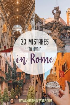 travel tips 23 Mistakes to Avoid in Rome - With these 23 mistakes to avoid in Rome, Italy, youll be a seasoned traveller before you even land in the airport. Italy Travel Tips, Rome Travel, Travel Europe, Greece Travel, Italy Packing List, Croatia Travel, Hawaii Travel, Budget Travel, Cool Places To Visit