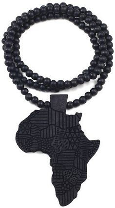 Africa Good Wood Goodwood All Wood Style Replica Pendant Necklace - Black Large GWOOD. $16.99. Clear Detail and Smooth Back. Africa Piece large. Light Weight. All Natural Wood. Wood Bead Chain And Pendant