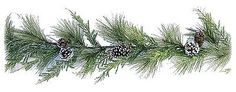 Artificial Aurora Iced Mixed Pine Garland w/Cones Christmas 6 ft NEW XG81612GA6