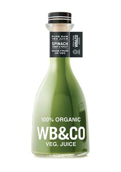 Trends in Packaging: Bold Typography100% organic WB&CO veg juice