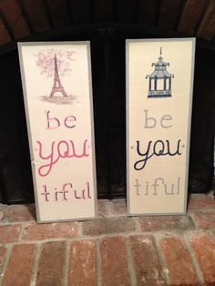 be.You.tiful sign, kid's bedroom decor, Eiffel tower, rustic, distressed, Chinoiserie, pagoda, navy, pink