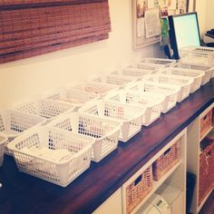 Great tip! Use bins to organize orders for shipping.