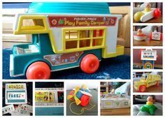 How many of these fun vintage Fisher-Price toys do you remember? #Vintage