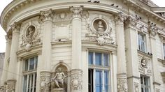 Lovely French architecture in Old Town Neoclassical Architecture, Baroque Architecture, Architecture Design, Sacred Architecture, Beautiful Architecture, Architectural Columns, Baroque Design, Serviced Apartments, Facade Design