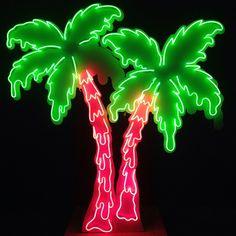 Brad Hansen  Neon Melting Palm Trees