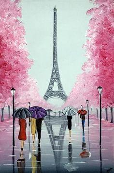 Eiffel Blossom Trees by Aisha Haider