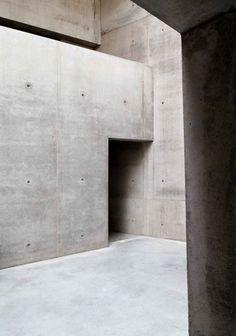 a muted palette - Maria-Magdalena Church, Freiburg KISTER. Concrete Architecture, Space Architecture, Architecture Details, Minimalist Architecture, Contemporary Architecture, Concrete Forms, Concrete Houses, Exposed Concrete, Concrete Interiors