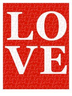 Red Love Pôsters por Avalisa na AllPosters.com.br