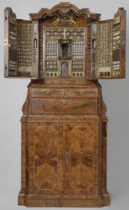 Collector's Cabinet with Miniature Apothecary's Shop, anonymous, 1730. Photo courtesy the Rijksmuseum.