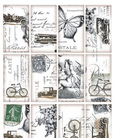 Rice Papers for Decoupage Scrapbook Crafting Carte Postale Cats 350
