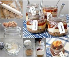 Caramel Cheesecake Jars cheesecake cheesecake recipes food recipes recipes recipe food food ideas food porn