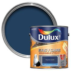 Dulux Easycare Denim Drift Matt Emulsion Paint - B&Q for all your home and garden supplies and advice on all the latest DIY trends Dulux White, Chic Shadow, Polished Pebble, Willow Tree, Banana Split, Stain Colors, Dulux Paint Colours Pink, My New Room, Diy Painting