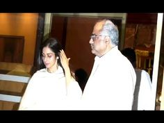 Sridevi & Boney Kapoor at Aishwarya Rai's father Krishnaraj Rai's prayer meet. Prayer Meeting, Aishwarya Rai, Chef Jackets, Father, The Originals, Music, Youtube, Pai, Musica