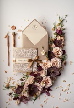 You want a wedding event invitation to complement the general style and mood of the wedding. Is your wedding official or casual? A formal wedding might require timeless script typefaces, formal phrasing, and the traditional double envelope. Bespoke Wedding Invitations, Minimalist Wedding Invitations, Affordable Wedding Invitations, Personalised Wedding Invitations, Vintage Wedding Invitations, Wedding Invitation Cards, Wedding Stationery, Invitation Suite, Invitation Design