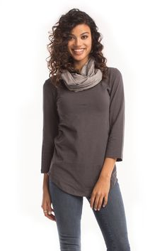 $17 Infinity Scarf in Charcoal