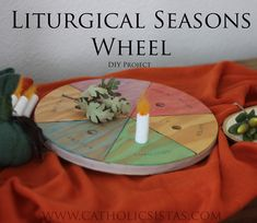 Liturgical Seasons Wheel DIY craft- a fun and creative way to introduce the liturgical seasons to your family.