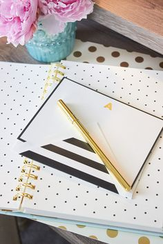 kate spade new york correspondence cards and matching gold pen ***swoon***