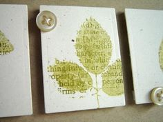 Alice's {Little} Wonderland: Leaf Prints & Little Bitty Bird