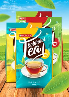 Kohinoor Tea Packaging Design