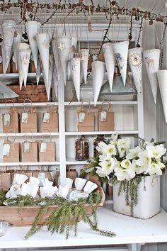 Vibeke Design Christmas Shop Display in Sweden, via SCANDINAVIAN CHRISTMAS Advent Calendar round-up on the Oaxacaborn blog