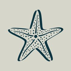 Etoile de mer. pochoir étoile de mer. pochoir en vinyle adhésif. (ref 283-2)